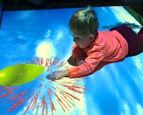 Noah Wall Playing on his interactive sensory floor