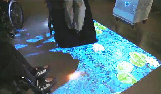 interactive sensory floor projections
