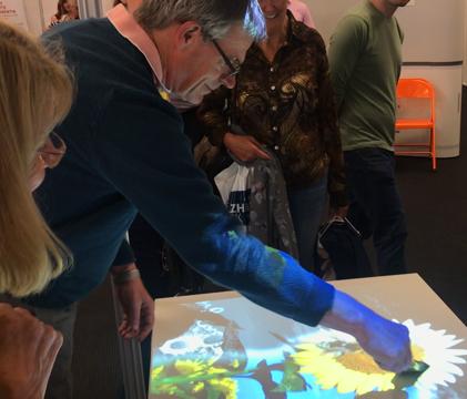 sensory experiences on interactive sensory table