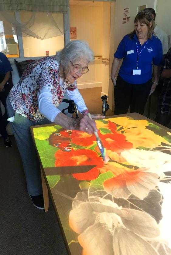interactive magic table for dementia