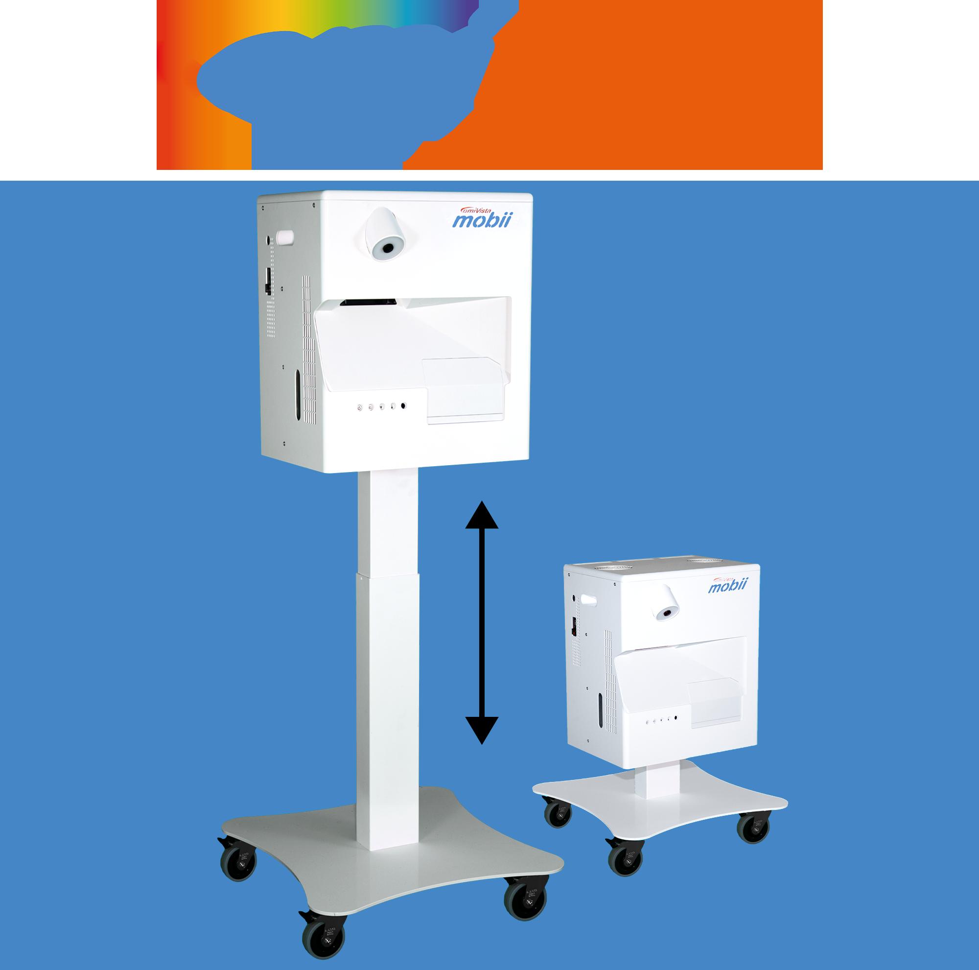 Easily height adjustable portable Mobii sensory projector