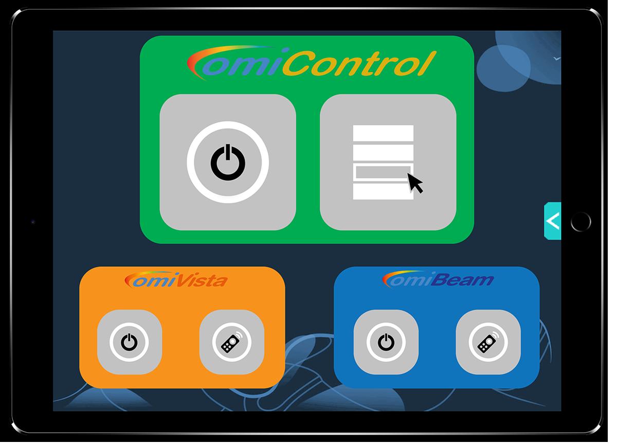 Omicontrol easy sensory room set-up and control