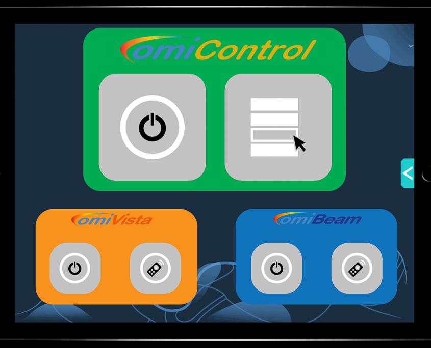 Control sensory equipment on a tablet