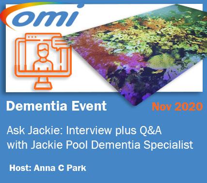 Dementia Evenet with Jackie Pool, Dementia Specialist